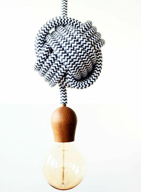 Cute lampe gl hbirnenform diy deko seil knoten