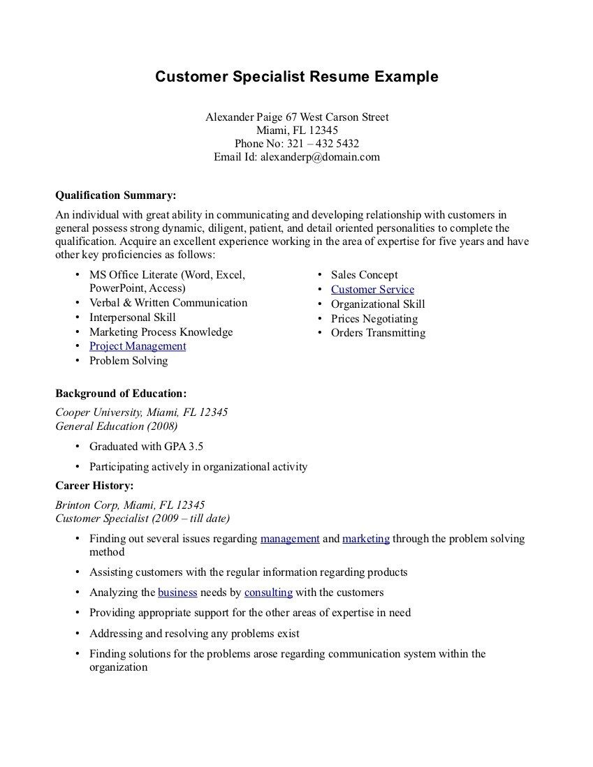 Summary Of Qualifications Resume Sample  Resume Examples