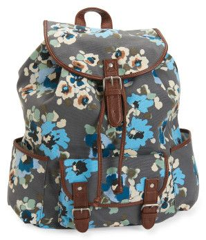 Floral Cinch Backpack -