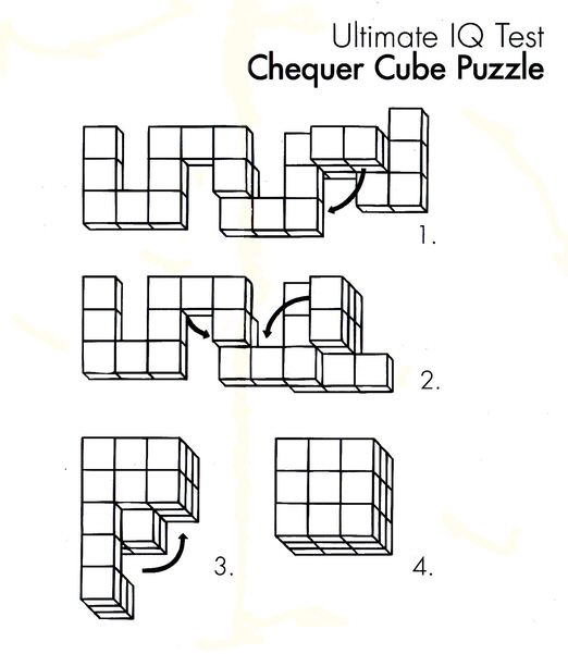 chequer cube puzzle solution