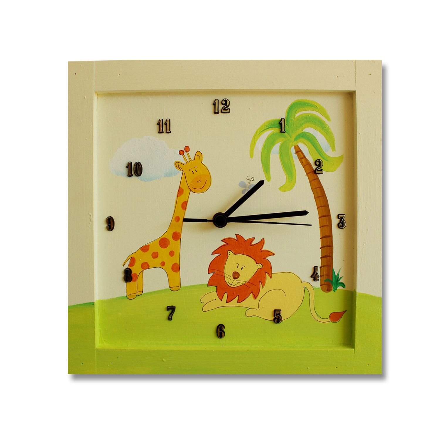 Jungle Animals WALL CLOCK for Boys and girls Bedroom, Personalize ...