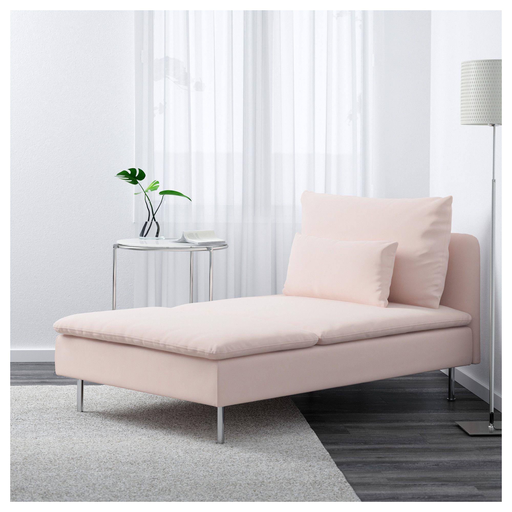 SÖDERHAMN Chaise - Samsta light pink | Chaise longue, Sofa ...