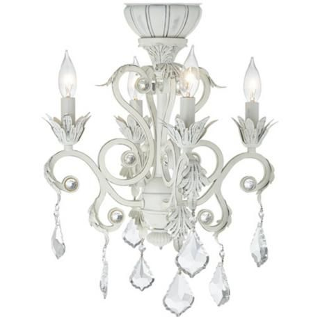 Miraculous 4 Light Rubbed White Chandelier Ceiling Fan Light Kit Home Home Remodeling Inspirations Cosmcuboardxyz