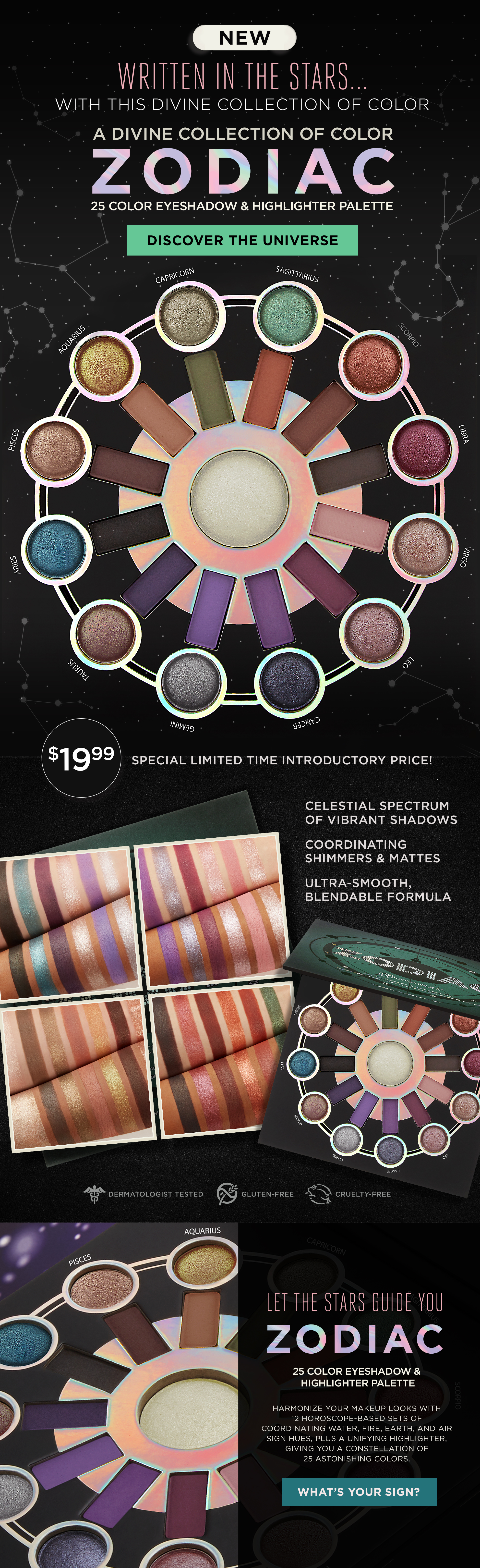 Zodiac Love Signs - 25 Color Eyeshadow & Highlighter Palette by BH Cosmetics #21