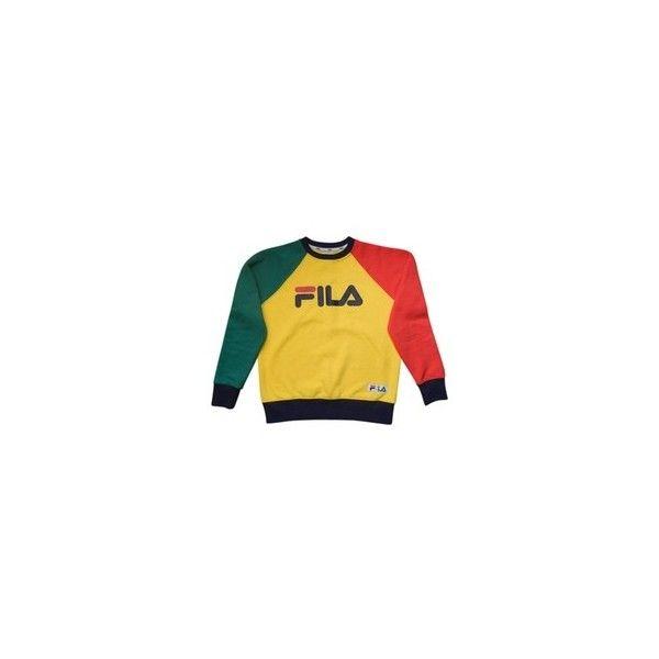 fila yellow top. yellow cotton knitwear fila ❤ liked on polyvore featuring tops, sweaters, fila, fila top