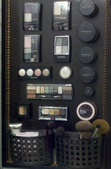 Great idea for makeup storage