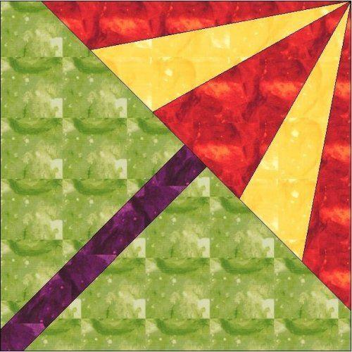 All Stitches Umbrella Paper Piecing Quilt Block Pattern