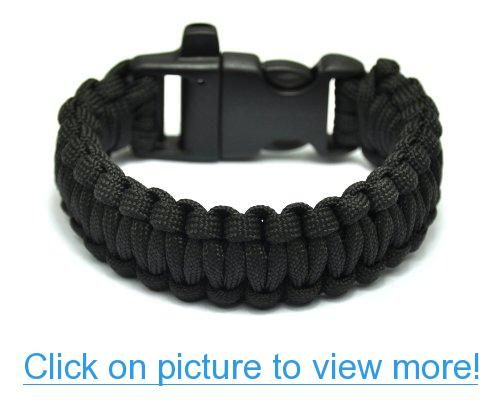 Generic Extra Beefy Wide 300 Lb Paracord Survival Bracelet With