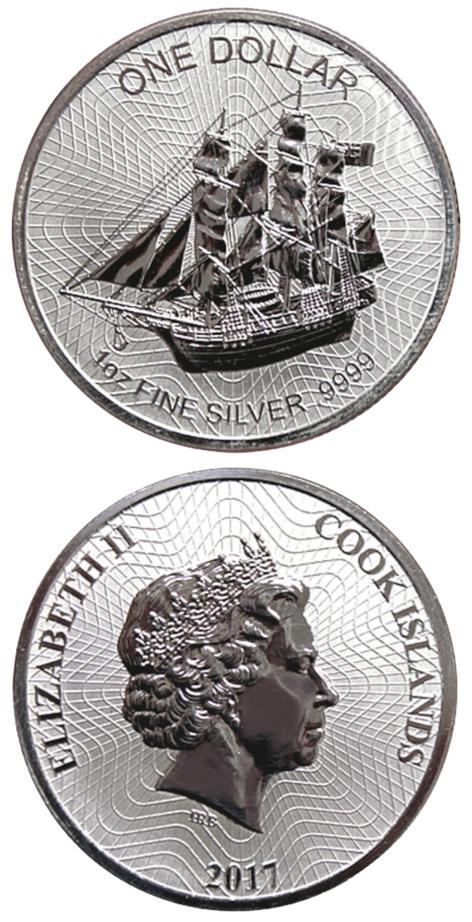 Cook Island Silbermünze 1 Unze Oz Silber Seit Dem Jahrgang 2017