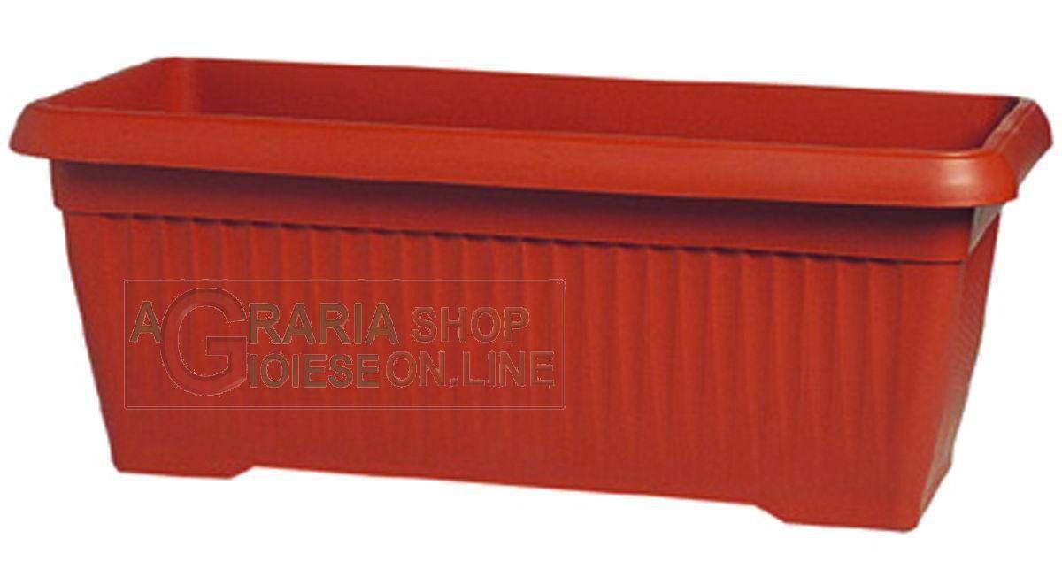 Fioriere In Plastica 80 Cm.Vaso Fioriera Similcotto Colore Terracotta Cm 80 X 37 Https Www