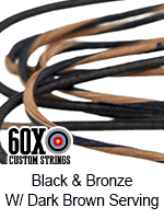 black and bronze with dark brown serving custom bow string