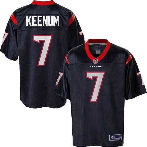 the latest 52e8f 69c2a Men's Pro Line Houston Texans Case Keenum Team Color Jersey ...