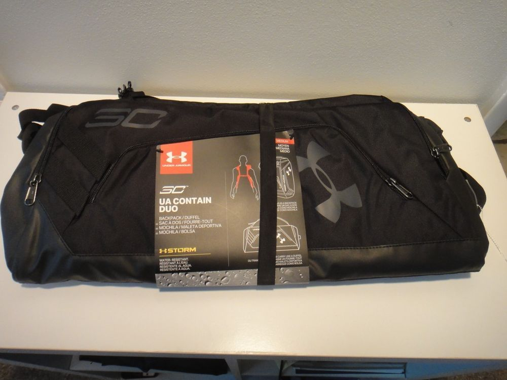 750cdace Under Armour S.C. Contain DUO BackPack Duffle Bag Color Black Size ...