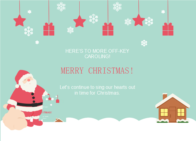 The Santa Is Finding His Way Back To Home And Now It S Your Time To Share Great Moments With Your Loved Ones By Christmas Card Template Christmas Cards Cards