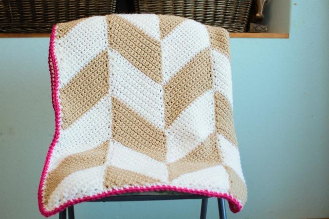 Crochet Pattern - Herringbone Blanket