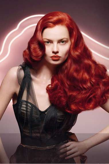 Pump Up A Classic With Color Love It Vintage Hairstyles Hair Styles Permed Hairstyles