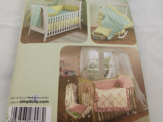 Baby Sewing Pattern Nursery Accessories Quilt Bumpers Pillow Diaper ...