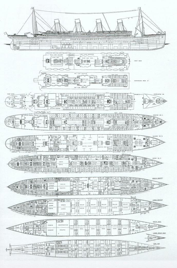 Map Of The Titanic : titanic, R.M.S., TITANIC, Photo:, Titanic, Plans, Titanic,, Ship,, Photos