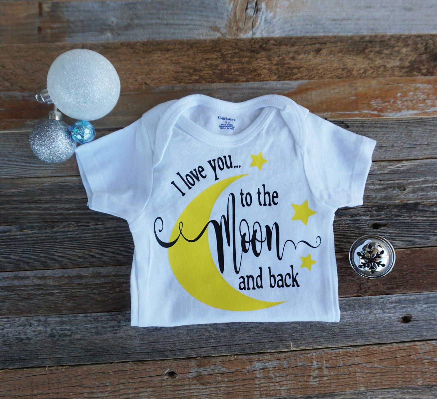 36086dcd99 I LOVE YOU to the moon and back, Cute onesies, Baby Boy onesie, Baby Girl  onesie, to the moon and back onesie, baby shower gift, Christmas by ...