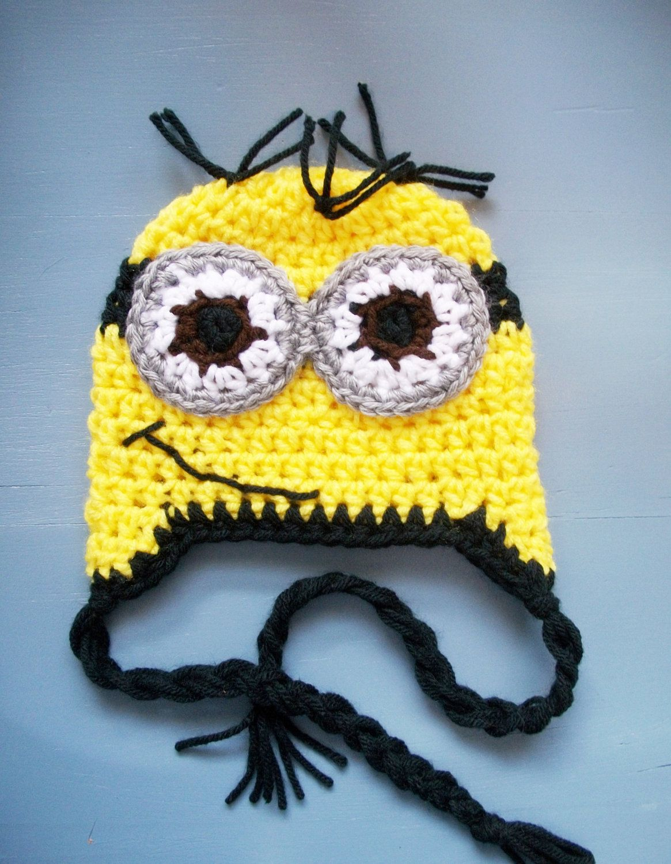 Despicable Me Minion Hat - Crochet Minion Hat Beanie-SIZE NEWBORN ...