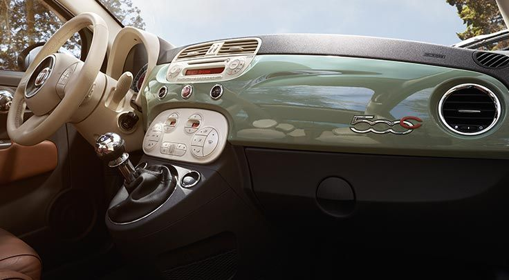 The Chic Interior Design Of The Fiat 500c Lounge And Five Speed