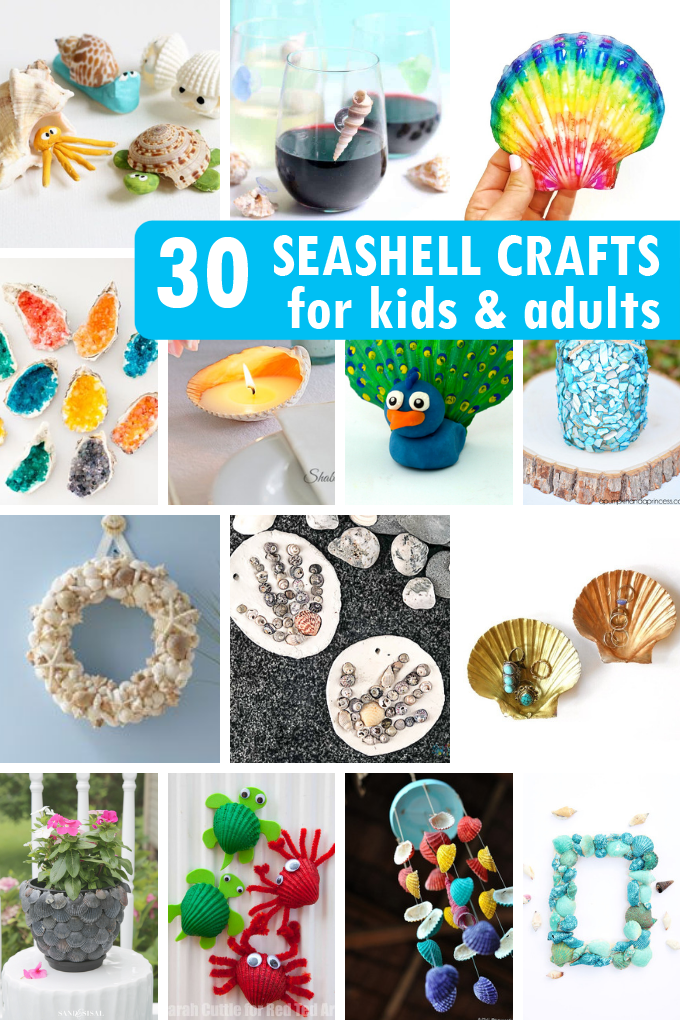 30 SEASHELL CRAFTS for kids and adults for a creative ...