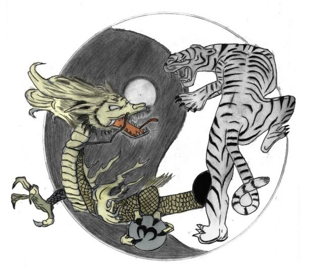 yin yang tiger dragon tattoo meaning - Google Search | Tatoos ...