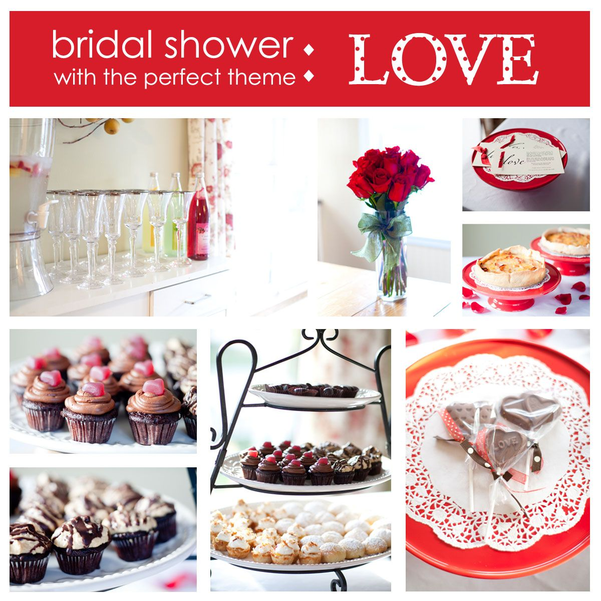 love themed bridal shower ideas for valentine39s day With valentine wedding shower ideas