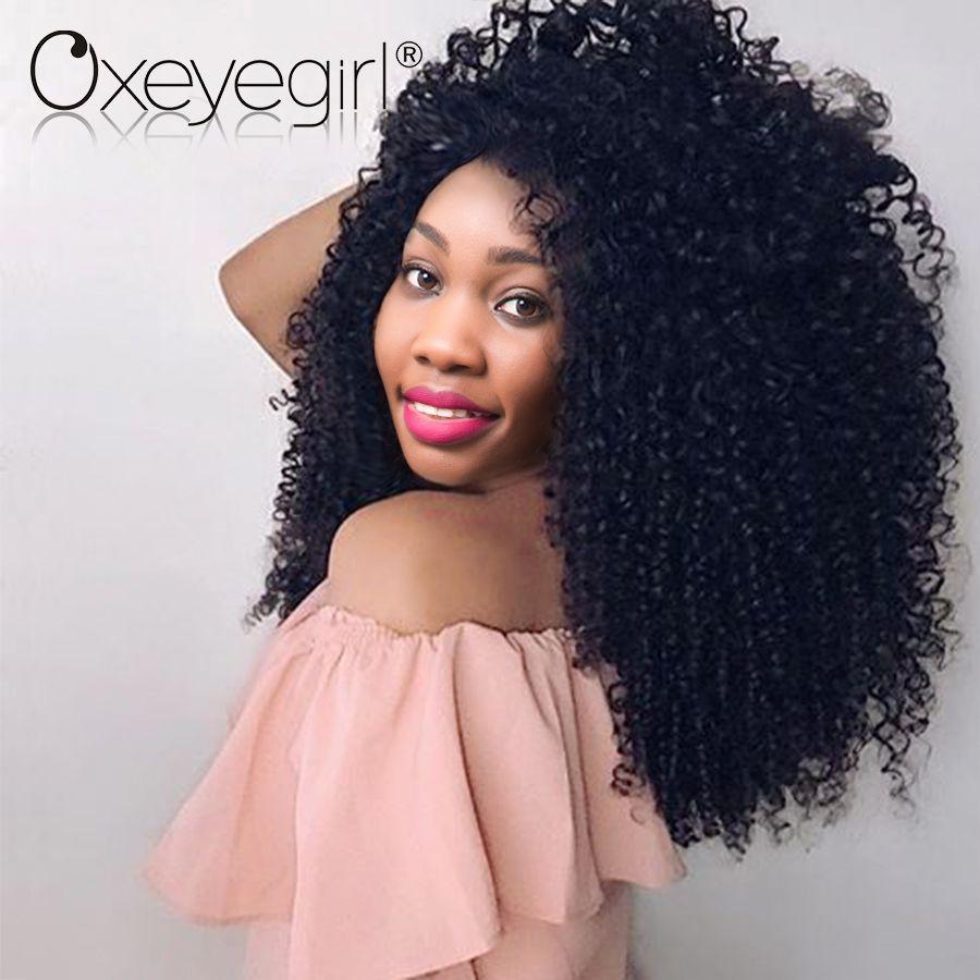 Oxeye Girl Afro Kinky Curly Weave Human Hair Bundles Brazilian Hair