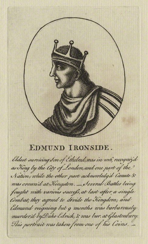 King Edmund II ('Edmund Ironside') (died 1016), King of England (National Portrait Gallery)