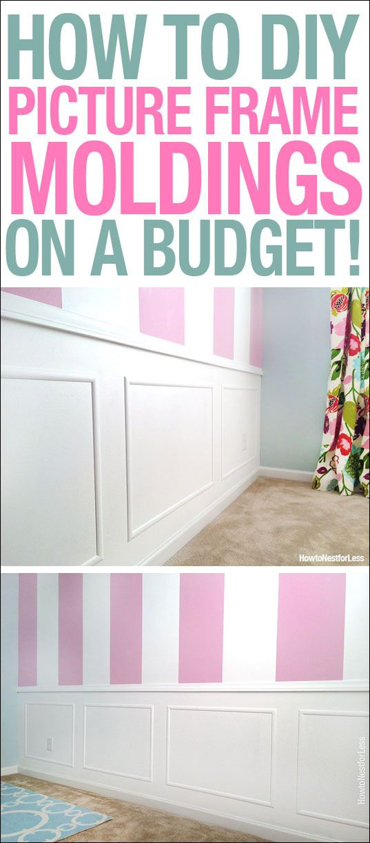 Picture Frame Moldings On A Budget Blogger Home Projects We Love
