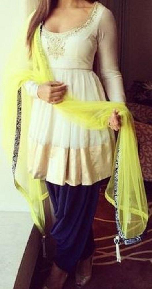 e2d8934bb74d4 FatimaBi Plus size Patiala Salwar Kameez Indian Engagement White Shalwar  Suit  FatimaBi  Patialasalwarkameez