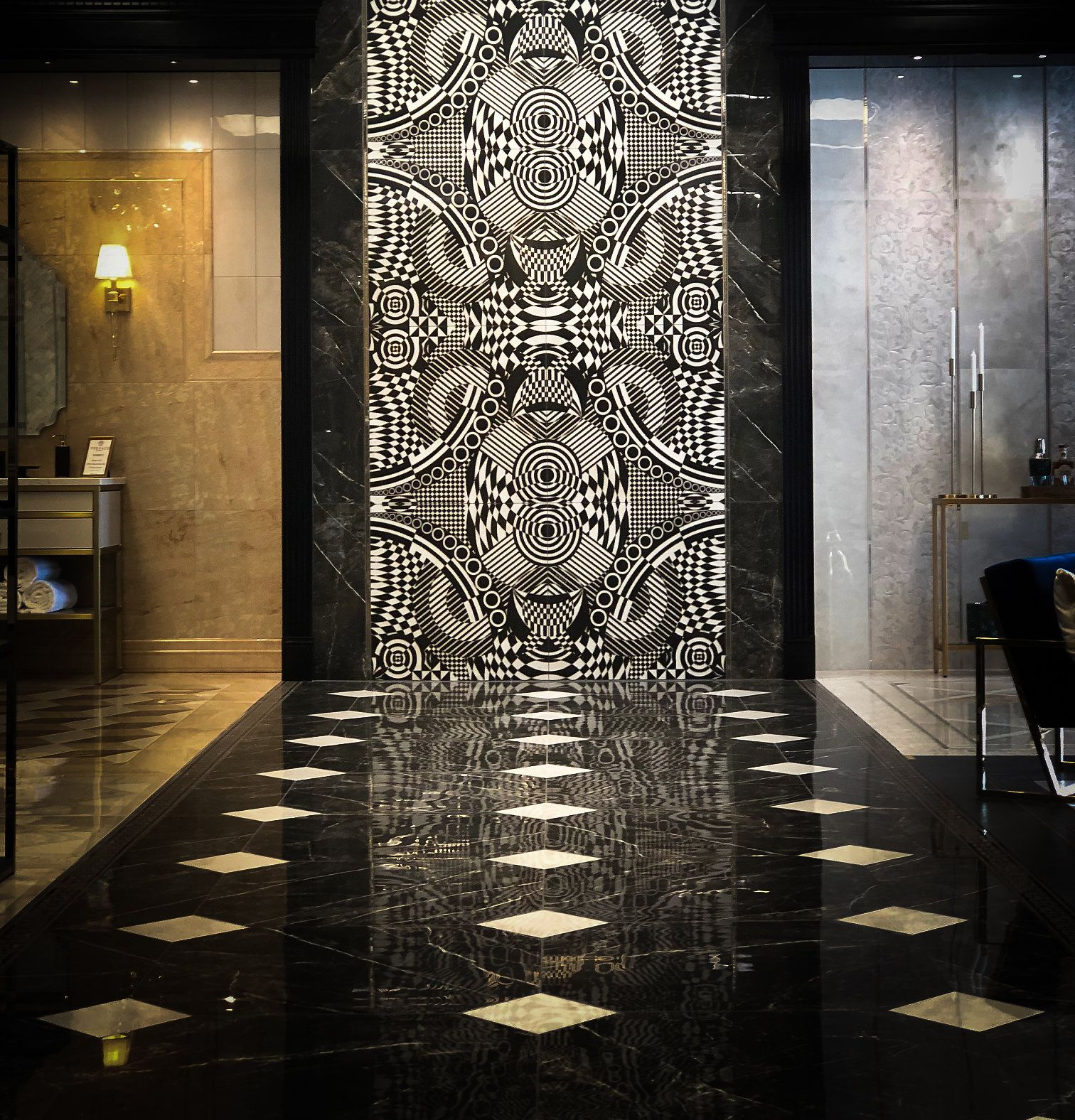 versace collection at wayne tile art