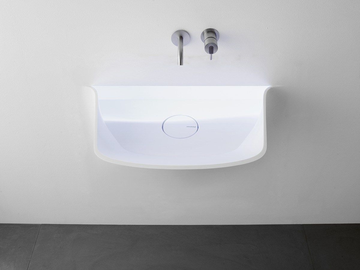 Lavabo luminoso in Corian® SOFFIO by Antonio Lupi Design® | design Domenico De Palo