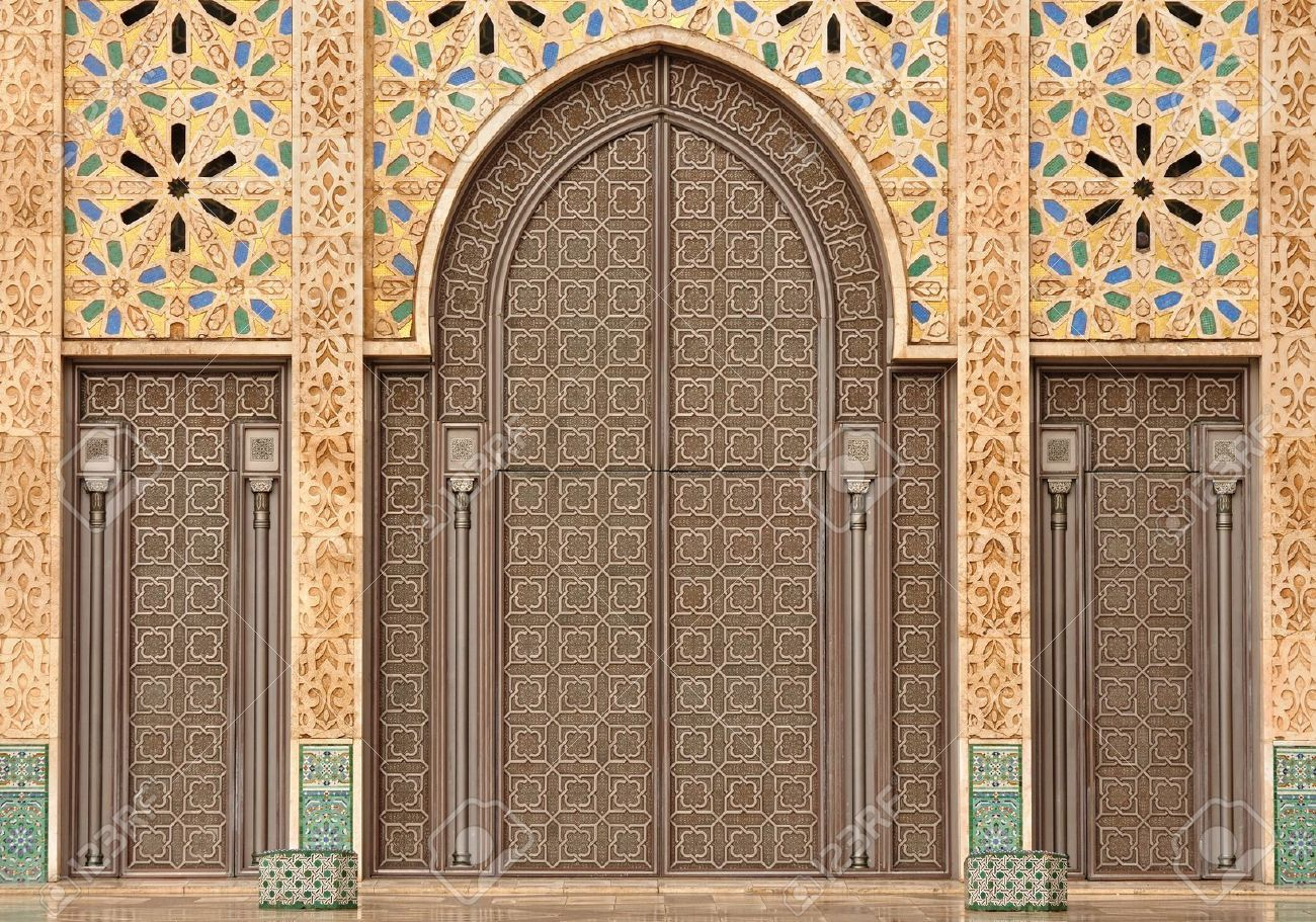 4058380-Detail-of-Hassan-II-Mosque-in-Casablanca-Morocco-Stock ... for Moroccan Archway  155sfw