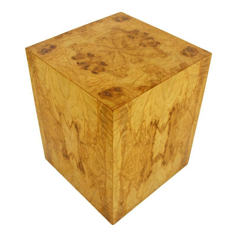 Terrific Mid Century Modern Milo Baughman Burl Wood Cube Pedestal Download Free Architecture Designs Remcamadebymaigaardcom