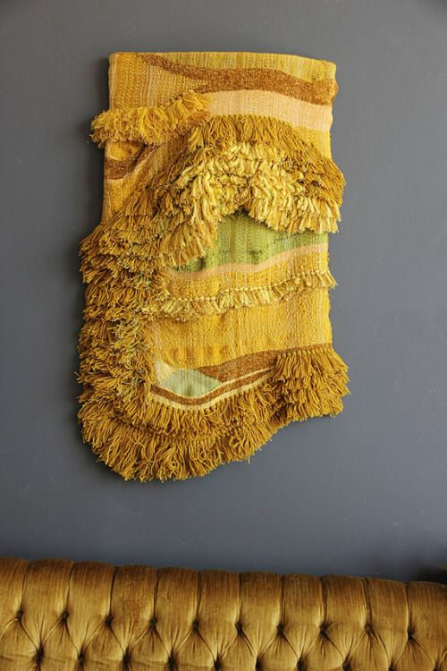 Yellow sea wwaving | Fiber wall art | Pinterest | Yellow sea, Fiber ...