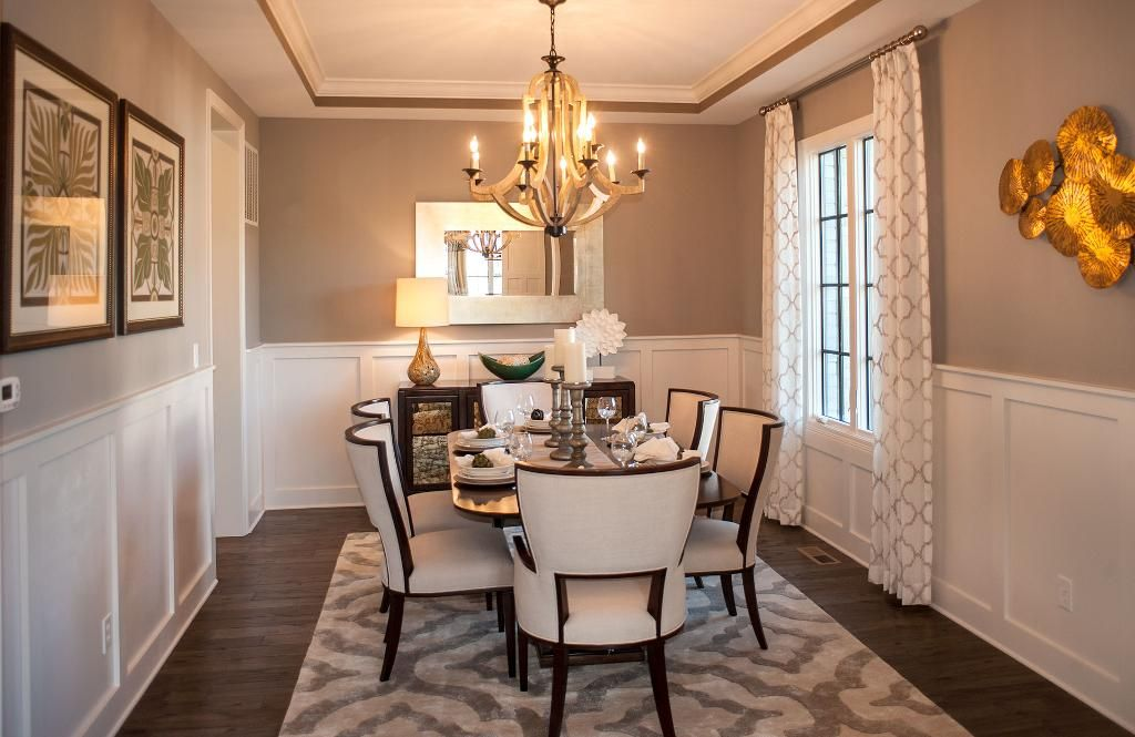 Dining Room With Wall Trim The Monticello Floor Plan Drees Homes Indianapolis Indianapolis
