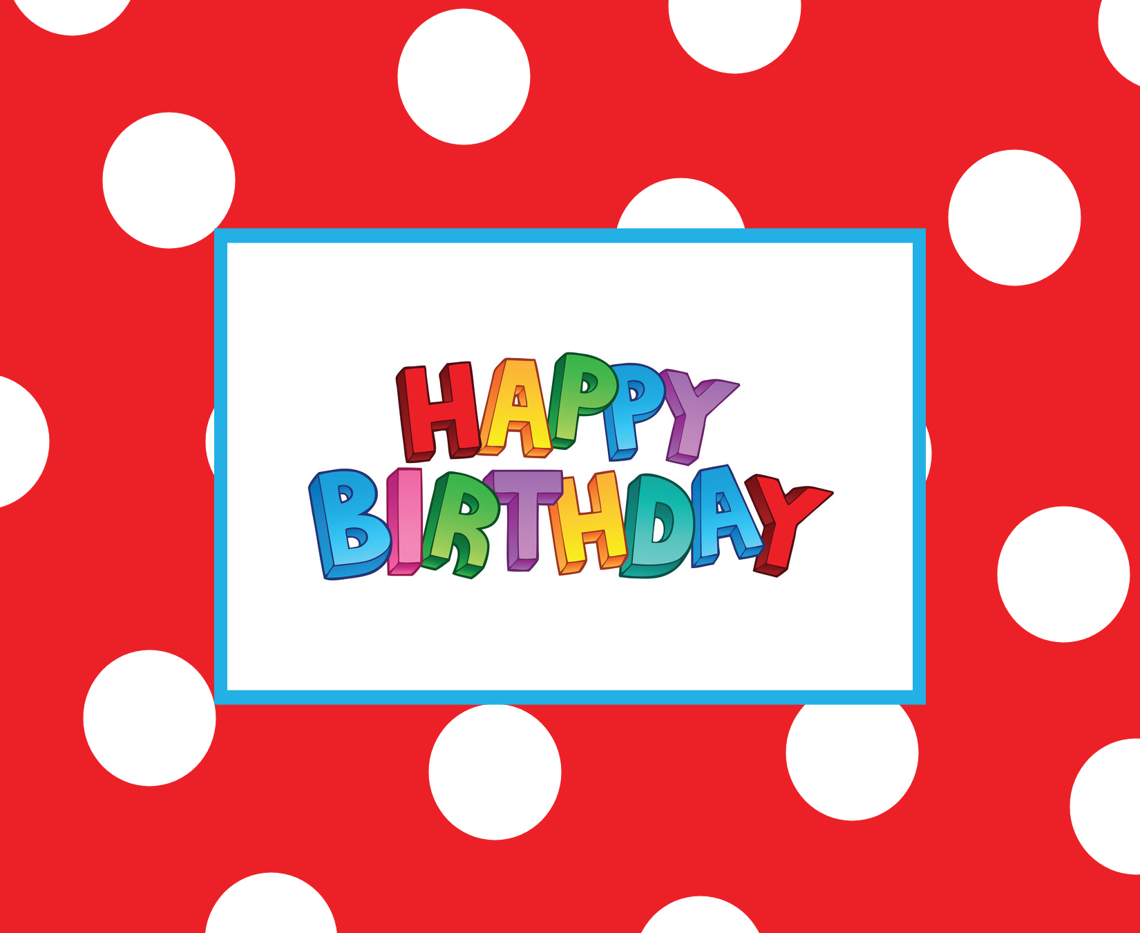 happy birthday card template free download – Birthday Card Printable Template