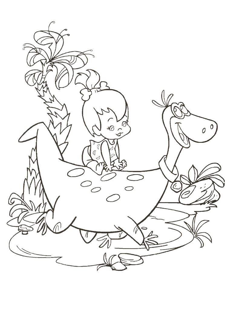 Flintstones Coloring Page | Drawings | Pinterest | Coloring books ...