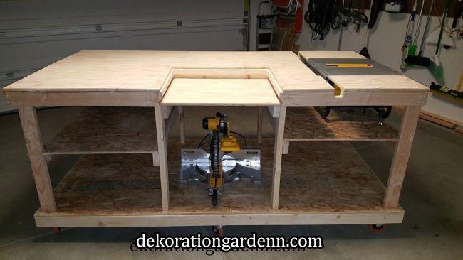 Photo of Optional shelf for secondary tools | Garage/tools in 2019 | Pinterest | Garage workshop, Workshop bench and Diy workbench
