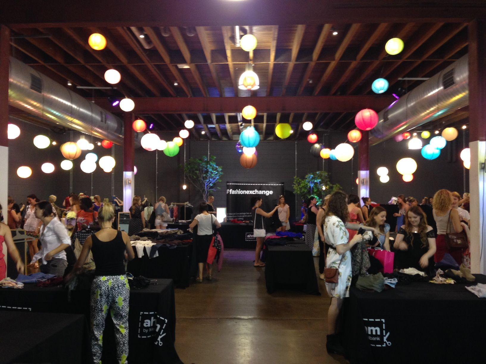 Clothing exchange Exhibition #lightspace Brisbane.