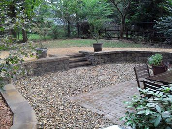 Retaining Wall, Natural Stone And Paver Patio | Yelp