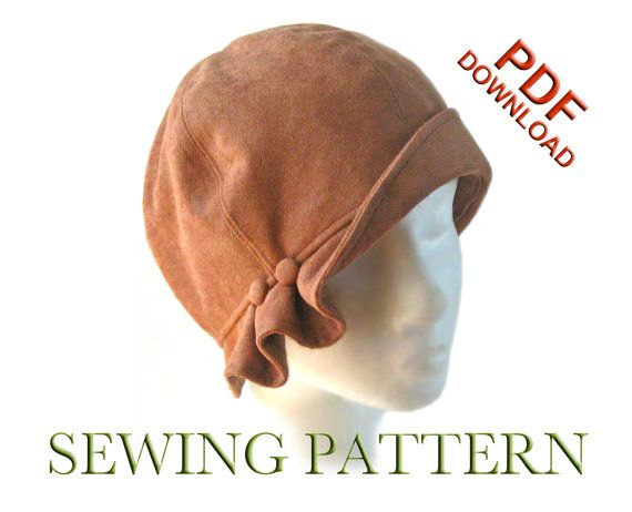 SEWING PATTERN - Madeline, 1920s Twenties Cloche Fabric Hat for ...