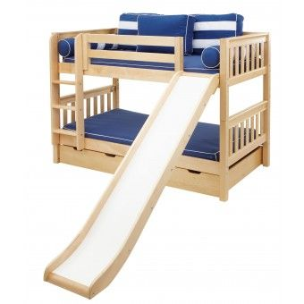 Bunk Beds With Slides And Stairs Smile Twin Over Twin Low Bunk Bed