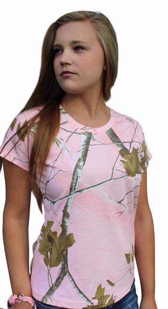 b363fb264 Realtree Pink Camo Tshirt Womens Plus Size 2X Cotton Camouflage Crewneck Tee  Top #Realtree #BasicTee