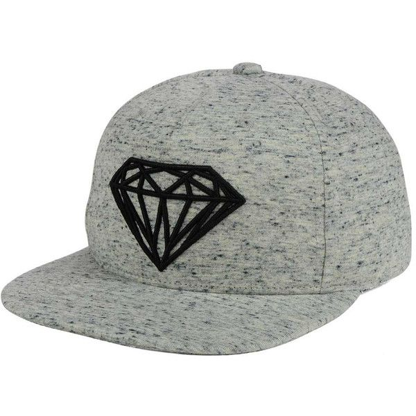 1cd7b0027dc9b0 Diamond Speckle Brilliant Snapback Cap ($43) ❤ liked on Polyvore featuring  accessories, hats, snapback cap, diamond cap, diamond snapback, diamond  snapback ...