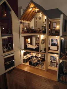 Modern miniature house - Incredible! | OTHER DOLL HOUSES | Pinterest ...