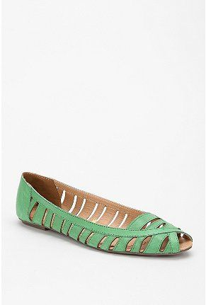 Ecote Leather Peep-Toe Skimmer from Urban Outfitters