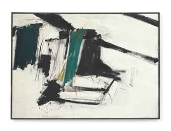 De Medici 1956 Oil And Charcoal On Canvas Franz Kline Abstract Franz Kline Painting